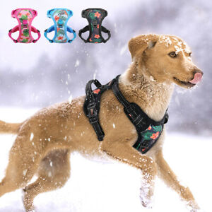 No Pull Dog Harness Reflective Mesh Fleece Front Clip Walking Harness Chest Vest