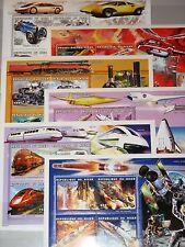 Níger 1999 klb 1737-60 MS 1041-46 medios de transporte cars trains Airplanes Space mnh