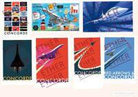 Aerospatiale BAC Concorde Speed Bird Aircraft Art Illustration Prints