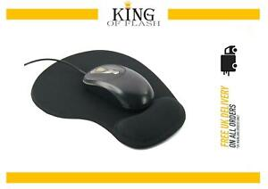 Black Anti-Slip Comfort Wrist Gel Rest Support Mouse Mat With Gel PC Laptop