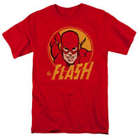 The FLASH Classic Comic Face FLASH CIRCLE Adult T-Shirt All Sizes