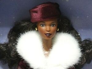 2000 Victorian Ice Skater African American Barbie w/Music Box #27432 New NRFB