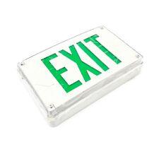 LV-S-W-1-G Lithonia Lighting Exreme Exit Sign, White/Green, 120/277V