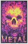 """Metal Skull Laminated Blacklight Poster - 23.5"""" x 35.5"""""""