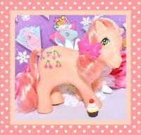 ❤️My Little Pony MLP G1 Vtg 1984 So Soft Cherries Jubilee DEFLOCKED Earth Pony❤️