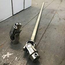 """Steel Steering Shaft Kit 1"""" DD GM Column to 9/16-26"""" Mustang Manual Rack"""