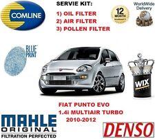 Per FIAT PUNTO EVO 1.4 TURBO 2010-2012 Olio Aria Carburante Polline Filtro Servizio Kit