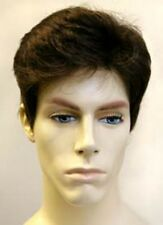 MENS MALE STRAIGHT SHORT HAIR HANDSOME DUDE COSTUME FULL WIG MARK LAYERED BACK