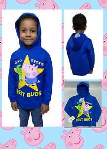 NEW kids boys Peppa pig licensed george dinosaur Best Buds hoody jumper 2-6 yrs