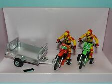 Britains 1/32 Motor Cross Bikes With Action Figures and Trailer NiB