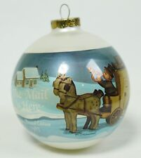 Vintage ARS MJ Hummel 1987 Mail is Here Sled Glass Ball Christmas Ornament