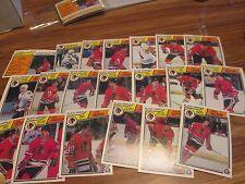 83/84 OPC HOCKEY CHICAGO BLACKHAWKS TEAM SET 20 DIFF CARDS PACK FRESH