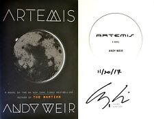 Andy Weir~SIGNED & DATED IN PERSON~Artemis~1st/1st HC+PHOTOS!! NOT TIPPED IN!!!!