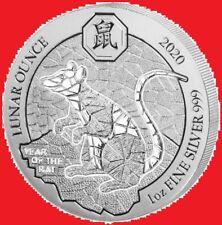2020 1oz Silver Rwanda Rat Bullion Coin