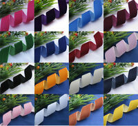 "1""  & 1 1/2"" Velvet Ribbon DIY Craft  Wedding Appliques Sewing Lots Color Upick"