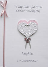 Personalised Wedding Day Card: Bride/ Daughter/ Sister