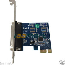 DB25 Printer Parallel 1 Port to PCI-E PC Peripheral Controller Card Adapter