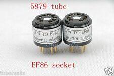 1Piece Gold plated 5879(adapter top) to EF86(amp socket) tube converter adapter