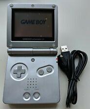 Nintendo Game Boy Advance SP Platinum + NEW USB + NEW battery
