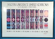 Yaacov Agam Signed Original Fine Art Print Poster Martin Lawrence Gallery 1980