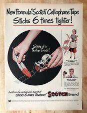 Original Magazine Print Ad 1953 SCOTCH BRAND Tape Cellophane 1950s