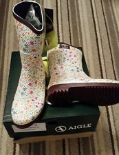 Aigle LIBERTY estate pioggia Limited Edition Stivali Di Gomma EU 35 NUOVO con scatola, UK 3