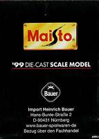 1001MAI Maisto 1999 Die Cast Scale Model Modellautos Prospekt brochure catalog