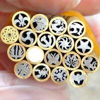2 pcs Mosaic Pin Rivets Brass tube 5mm diameter 45mm nail DIY Knife Handle Pins