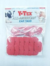 Y-Tex Swine Star 2-Piece Livestock Ear Tags Pig Hog 25 Pack Red 5707-000 Blank