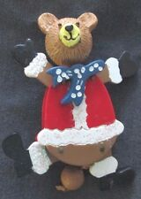Jumping Jack Teddy Bear Hand-Crafted Wooden Pin Christmas Holiday Dillard's $40