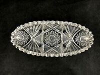 """🟩  Antique Quaker City ABP Cut Glass JEFFERSON Pattern 10 1/2"""" Celery Dish"""