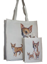 Chihuahua Tan Dog Adult & Child Shopping or Dog Treats Packed Lunch etc Tote Bag