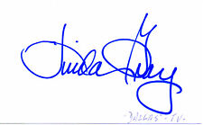 US ACTRESS LINDA GRAY HANDSIGNED  5 x 3 WHITE CARD
