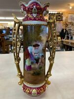 Vase Hand Painted Artist Is Hans Zatzka Austrian Vase SIGNED