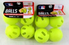Franklin Curve Balls 90mm Plastic Yellow *Two Sets Of 4 (8 Total) New *