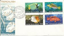 1976 FDC Tropical Fish  set of  4 FDI Port Moresby 20.10.76 Unaddressed Cover