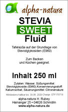 4 x 250ml Stevia Premium Flüssig-zertifizierte Qualität + 50 Stevia Tabs