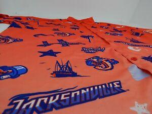 Jacksonville Jumbo Shrimp Button Up Shirt Promotional MiLB Adult XL Hawaiian