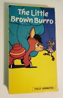 The Little Brown Burro VHS 1989 New Age Video Rare Animation HTF