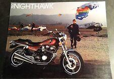 1983 HONDA NIGHTHAWK 750 MOTORCYCLE SALES BROCHURE 4 PAGES NICE  (833)