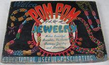 Vintage 1944 Walco Bead Pom Pom Jewelry Making Set Wood Beads