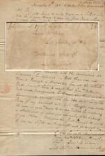 1810 Cincinnati Stampless Letter, Plea from Military Hero to Receive his Pension