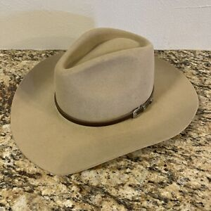 Stetson American Buffalo Collection XXXX Cowboy Western Hat 7 56 Wool Silversand