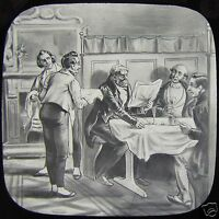 Glass Magic Lantern Slide THE BLOOMSBURY CHRISTENING NO2 C1890 VICTORIAN TALE