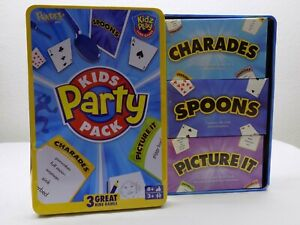 Kids Party Pack | 3 Games | Kidz Play Card | Charades | Picture It | 3280 | NOS