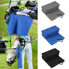 Golf Towel Waffle Pattern Microfiber With Carabiner Golf Accessories Portable