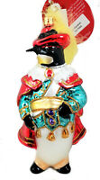 Radko Sir Cavalier Penguin with Feather Christmas Glass Ornament Made in Poland
