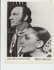 Jose Greco and Nana Lorca- Orig. Promotional Photo- Music Memorabilia 1970's