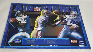 1992 Air Strike Promo Poster NFL Rison Irvin Rice Ocean Spray Frito Lay NOS Vtg