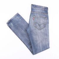 Vintage LEVI'S 511 Slim Straight Fit Men's Distressed Blue Jeans W29 L32